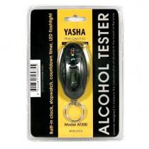 Алкотестер YASHA АТ200, светодиод. индикатор, фонарь и встроен. часами (0,00-0,05 промилль)