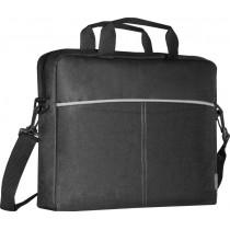 Сумка для ноутбука  LITE 15.6', чёрный + серый, карман Defender