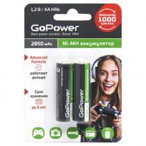 Аккумулятор GoPower R06-2BL, (AA) 2850 мАч, Ni-Mh, (50/200)