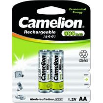 Аккумулятор Camelion R06-2BL, (AA) 800 мАч, Ni-Cd (24/480)