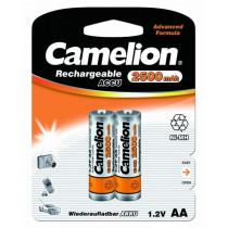 Аккумулятор Camelion R06-2BL, (AA) 2500 мАч, Ni-Mh (24/384)