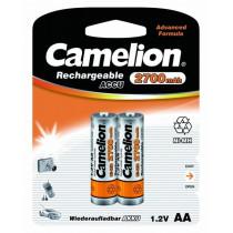 Аккумулятор Camelion R06-2BL, (AA) 2700 мАч, Ni-Mh (24/384)