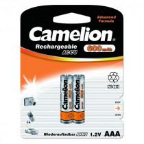 Аккумулятор Camelion R03-2BL, (AAA) 600 мАч, Ni-Mh, (24/480)