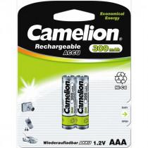 Аккумулятор Camelion R03-2BL, (AAA) 300 мАч, Ni-Cd (24/480)