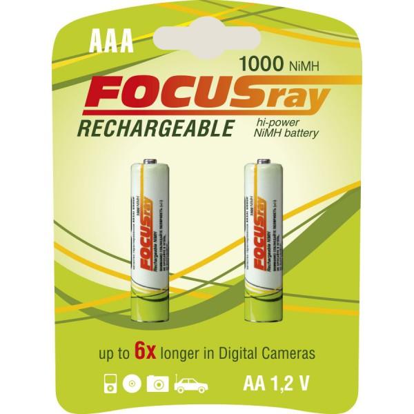 Аккумулятор FOCUSray 1000 мАч AAA 2/24/288