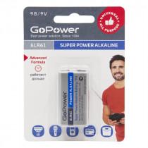Элем.пит. 6LR61-1BL GoPower Super Power Alkaline (1/10/240)