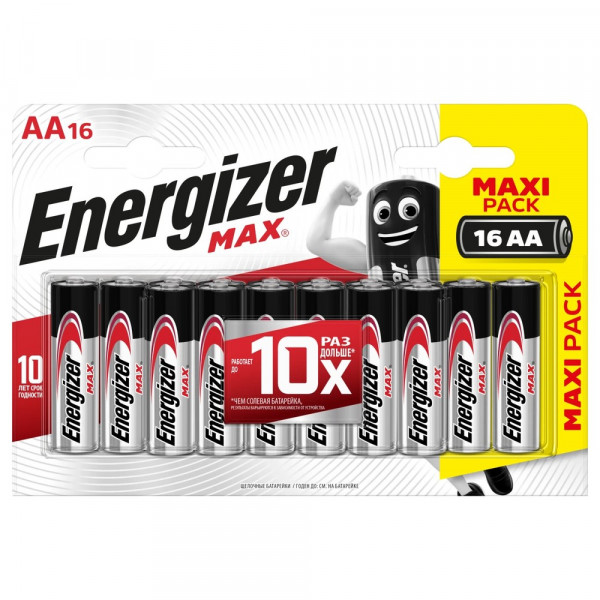 Элем.пит. LR6-16BL ENERGIZER MAX (16,96)
