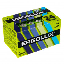Элем.пит. LR6-24 шт. в коробке Ergolux NEW (24, 480)