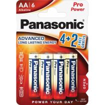 Элем.пит. LR6-6BL Panasonic PRO Power (4+2 на блистере, 6/72)