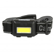 Фонарь налобный  Camelion LED5355, 1 Вт COB LED, 3 реж, 3xAAA, пласт, блистер