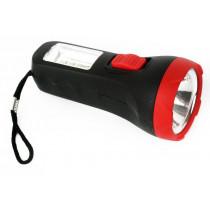 Фонарь ручной  Ultraflash LED16014, 1 + 4SMD LED, 2 реж., пласт, блист-пакет, (1xAA), чёрный/красный