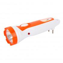 Фонарь ручной аккумуляторный  Ultraflash LED3860, 1 + COB LED, 2 реж., пласт., коробка, (SLA), бел/оранжевый