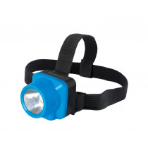 Фонарь налобный аккумуляторный  Ultraflash LED5375, 1 Вт LED, 2 режима, пласт.бокс, голубой