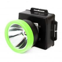 Фонарь налобный  Ultraflash LED53762, 0,5 Вт LED, 1 режим, пласт. бокс, (3xR6), чёрный/зелёный