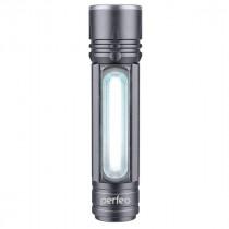 Фонарь ручной аккумуляторный  Perfeo PL-303 Regs, LED+COB, 180LM, 10 Вт, АКБ 18650