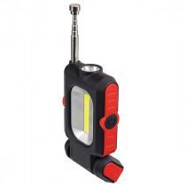 Фонарь ручной  Perfeo PL-602 Spark, LED+COB, 150LM, магнит, красный (3xAAA)