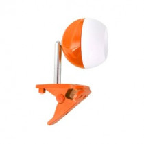 Светильник настольный Camelion KD-798 C37, оранжево-белый (на прищепке, 230V, 3,2Вт, 4000K.)