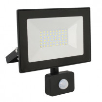 Прожектор Ultraflash LFL-2002S C02 с датчиком (LED, 20Вт, 230В, 6500K) чёрный