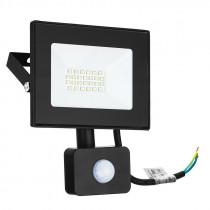 Прожектор Ultraflash LFL-3002S C02 с датчиком (LED, 30Вт, 230В, 6500K) чёрный
