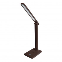 Светильник настольный Ultraflash UF-730 C10, LED 11 Вт, 3 уровня яркости, коричневый