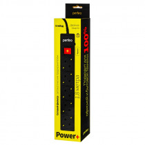 "Perfeo сетевой фильтр 1,8м, 5 розеток, ""POWER+"", чёрный (PF-PP-5/1,8-B) (30)"