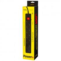 "Perfeo сетевой фильтр 1,8м, 6 розеток, ""POWER+"", чёрный (PF-PP-6/1,8-B)"