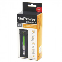 ЗУ GoPower LiCharger 2 (1 слот для A, AA, AAA, AAAA, C, SC, Li-ion IMR/INR/ICR Ni-Cd / Ni-MH)
