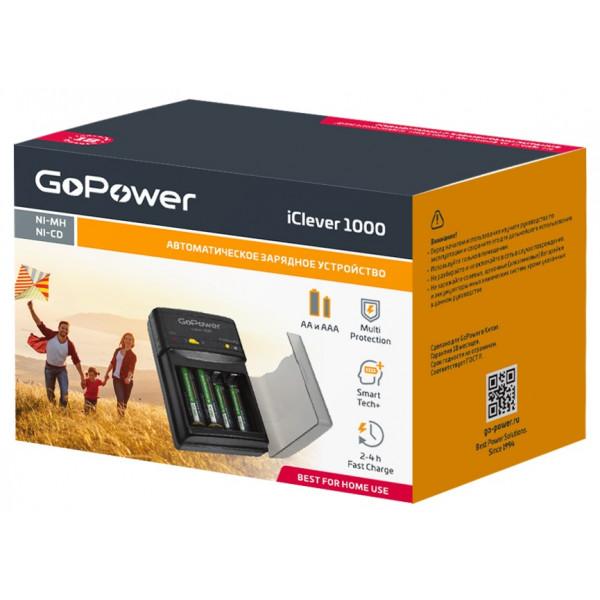 ЗУ GoPower iClever 1000 (2xAA или 4xAAA, Ni-Cd / Ni-MH)