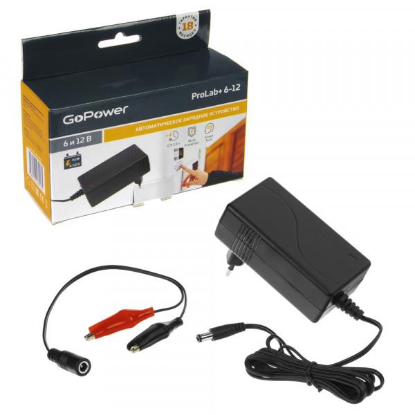 ЗУ GoPower ProLab+ 6-12 6-12V 1.5A для свинцово-кислотных аккумуляторов (1/72)