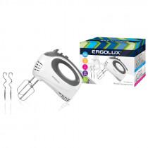 Миксер ручной ERGOLUX ELX- EM02-C31 (320Вт,220-240В) бело/серый