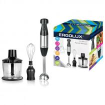 Блендерный набор ERGOLUX ELX-BS02-C72 (измельчитель, венчик, блендер, 700Вт,220-240В) серебр/чёрный