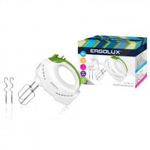 Миксер ручной ERGOLUX ELX- EM01-C34 (200Вт,220-240В) бело/салатовый