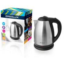 Чайник электрический Ergolux ELX-KS01-C72 (нерж.сталь, 1.8л, 160-250В, 1500-2300Вт), матово-чёрный