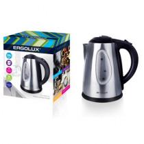 Чайник электрический Ergolux ELX-KS03-C72 (нерж.сталь, окно, 1.8л, 160-250В, 1500-2300Вт), матово-чёрный