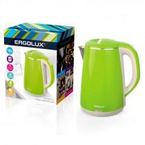 Чайник электрический Ergolux ELX-KS06-C16 (нерж.сталь/пласт, 1.8л, 220-230В, 1500Вт) светло-зелёный