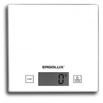 Весы кухонные ERGOLUX ELX-SK01-С01  (до 5 кг, 150*150 мм) белые