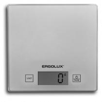 Весы кухонные ERGOLUX ELX-SK01-С03 (до 5 кг, 150*150 мм) серые