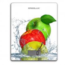 """Весы кухонные ERGOLUX ELX-SK02-С01 (до 5 кг, 195*142 мм) """"фрукты"""" белые"""