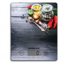 """Весы кухонные ERGOLUX ELX-SK02-С02 (до 5 кг, 195*142 мм) """"специи"""" чёрные"""