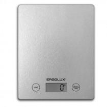 Весы кухонные ERGOLUX ELX-SK02-С03 (до 5 кг, 195*142 мм) серые