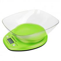 Весы кухонные ERGOLUX SK04-C16 (до 5 кг со съемной чашей) салатовые