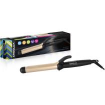 Электрощипцы для завивки волос Ergolux ELX-CI02-C64 (23Вт, 220-240В), черн/золото