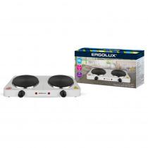 Плитка электрическая Ergolux ELX-EP04-C01 (2 конф., дисковый нагр.эл.2000Вт, 220-240В), белый