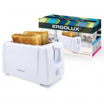Тостер электрический Ergolux ELX-ET01-C01 (220-240 В, 700 Вт), белый