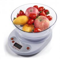 Весы кухонные электронные KE-1 (до 5кг) 2AA + чаша (белые)