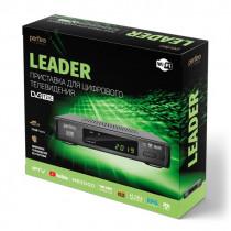 Perfeo LEADER цифровой эфирный ТВ-ресивер DVB-T2/C,Wi-Fi, IPTV, HDMI, 2USB, DolbyDigital, пульт ДУ
