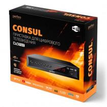 Perfeo CONSUL цифровой эфирный ТВ-ресивер DVB-T2/C,Wi-Fi, IPTV, HDMI, 2USB, DolbyDigital, пульт ДУ