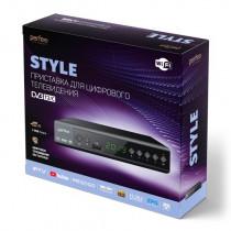 Perfeo STYLE цифровой эфирный ТВ-ресивер DVB-T2/C,Wi-Fi, IPTV, HDMI, 2USB, DolbyDigital, пульт ДУ
