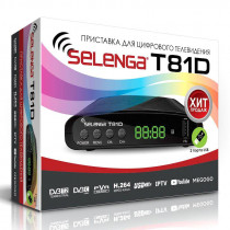 SELENGA T81D цифровой эфирный ТВ-ресивер DVB-T2