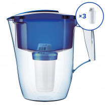 Водоочиститель Кувшин Аквафор ГАРРИ A5 + 2 доп.модуля, синий